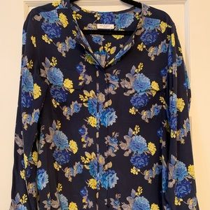 100% silk Equipment floral blouse